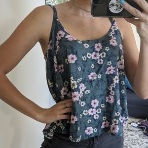 American eagle outfitters flowy floral tank